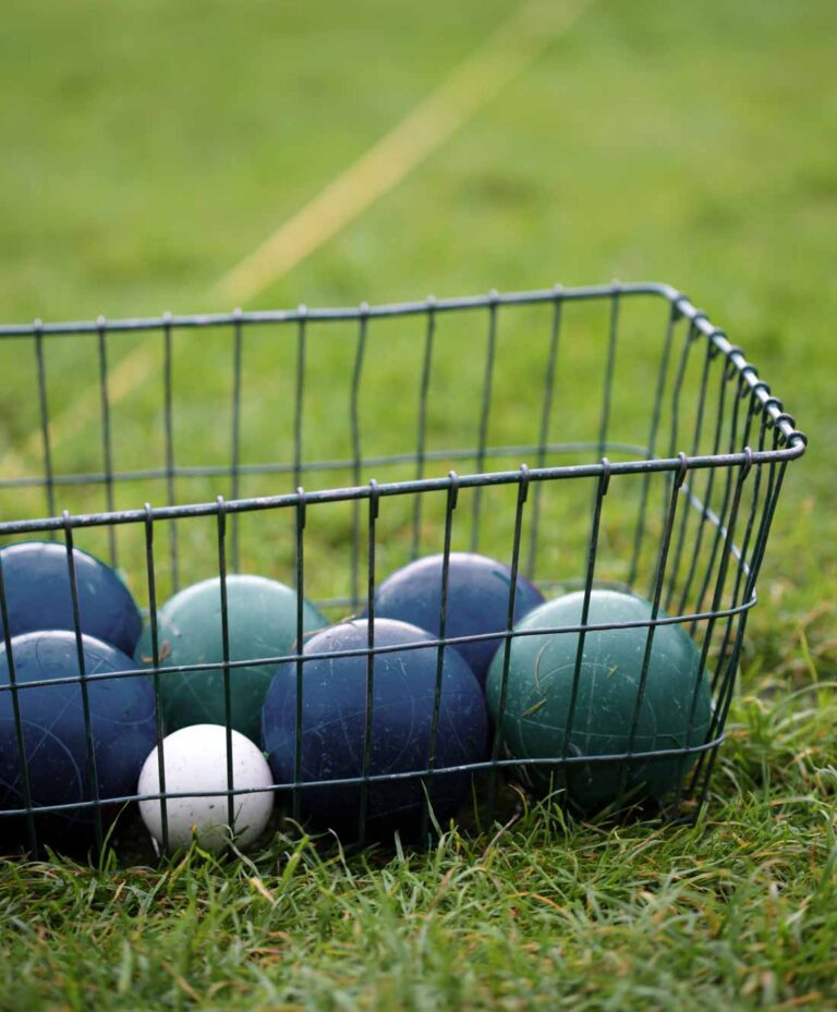 harbor belle rv bocce balls in basket